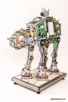 Upcycled Imperial Walker AT-AT by gabrieldishaw