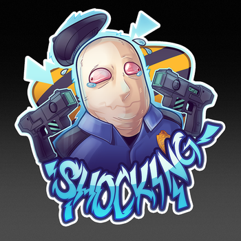 shocking   csgo sticker  by zombie d83hxfv - Awesome Cool Csgo Knives