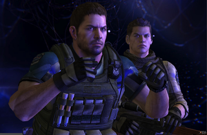 Chris Redfield and Piers Nivans ready! by redfield37