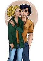 Percy And Annabeth by BonSquiggle