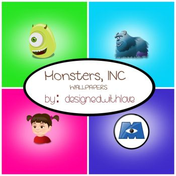 Monsters, INC. walls  by designedwithlove