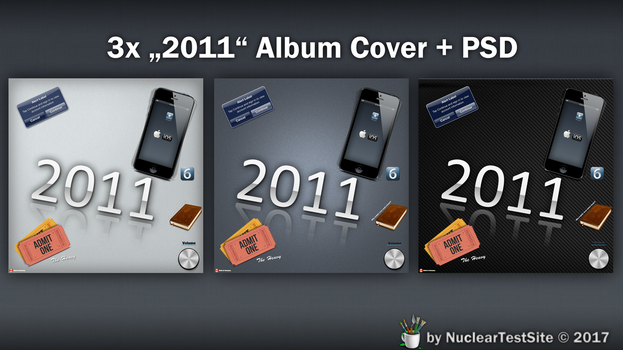Customizeable HD Album Cover 2011 FREE PSD by NuclearTestSite