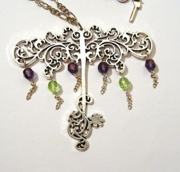 Necklace Tree of life - antique silver filigree by Magic-Jewels