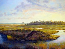 Evening on the Marsh by Flaven