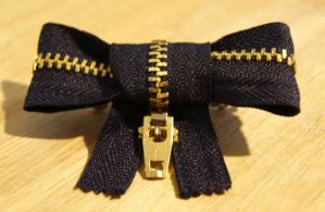 Small Zipper Bow Hair Clip by ourdancingdays