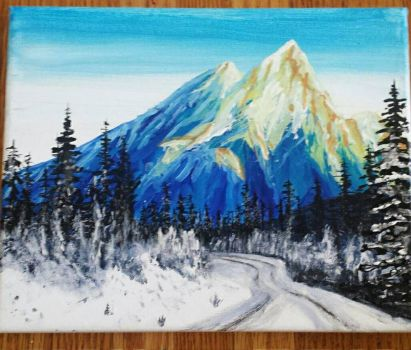 The Rockies original acrylic  by TheJennaBrown