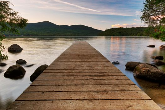 Lake Placid Sunset Jetty (freebie) by somadjinn