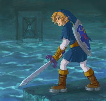Water Temple Link by paintpixel