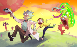 rick and morty by Sydsir