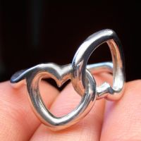 Double heart knot by Vansee-Jewelry