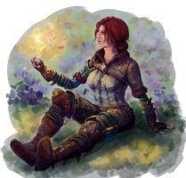 Triss coloured by BlackAssassiN999