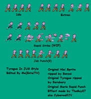 Tyrogue In JUS Sprite Sheet WIP