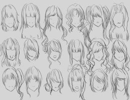 Female Hair Reference by lumaeya