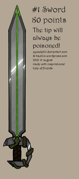 Adoptable - Snake sword OPEN by Eyecelphil