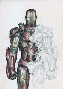 Sketch Iron Man unfinished by eltonramalho