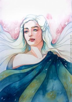 Daenerys watercolor by TransmissionDream