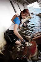 Lara Croft SOLA wetsuit - knock-knock :D by TanyaCroft
