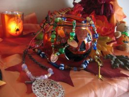 Hand-Crafted Beaded Chuvihani/Gypsy Necklaces by jokersdraw