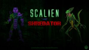 Scalien Vs. Shredator by AnutDraws