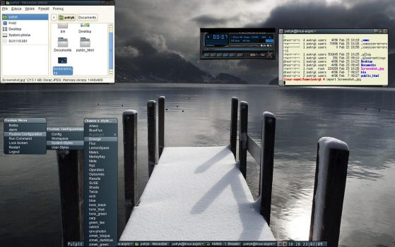 OpenSuse 11.1 with Fluxbox by patryksharks321