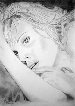 Scarlett Johansson drawing by caiusaugustus