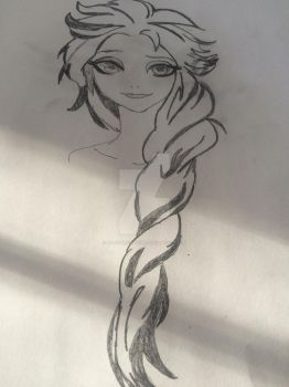 My attempt at drawing Elsa.... by FatComicsLover