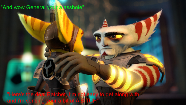 Alister's Opinion on Ratchet by Twilightlover865