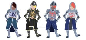 Lady Knight Concept Designs by ThisIsArtMaybe