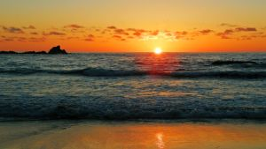 Sunset on the Atlantic by francis1ari