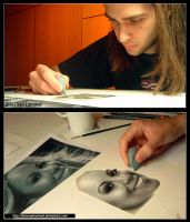 Portrait Mariah Carey WIP 2 by DriesVanLommel