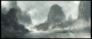 Chinese Mountains by Juhupainting