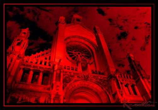 Red Saint Catherine's Church by K-rakter
