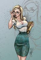 Alice  the Librarian by j-scott-campbell (COLORS) by carol-colors