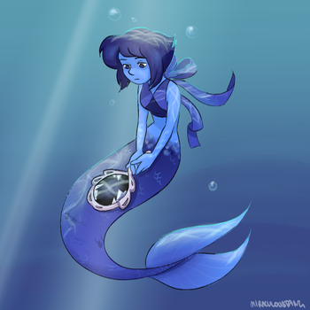 Lapis bein a COOOOOL mermaid by miraculousTang