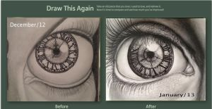 Draw this again- Eye with clock by mariana-a