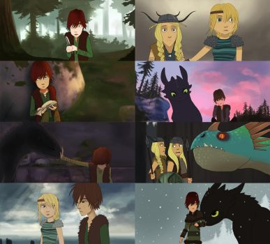 how to train your dragon 2D by Detkef