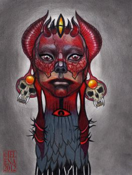 RED Dragon by medusainfurs
