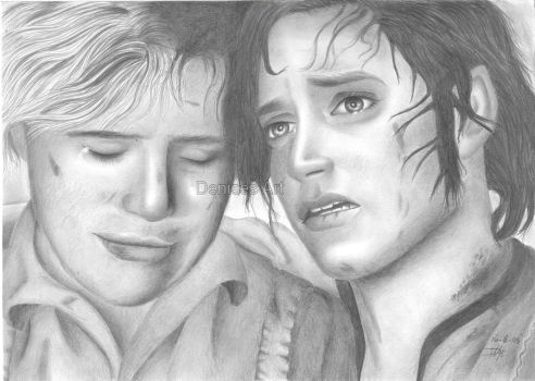 Frodo and Sam by LittleRamona