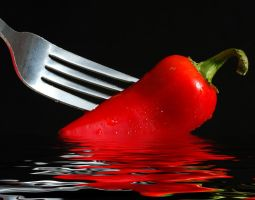 Wet Red Pepper by robgbob