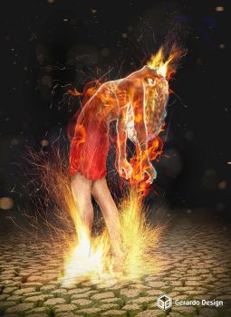 Girl on fire by gerardodesign
