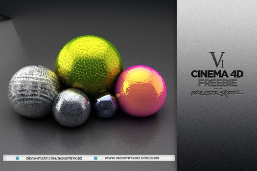 Free Cinema 4D Material Pack by Industrykidz