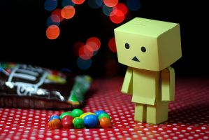 Danbo and MnMs by ahmedwkhan