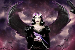 The Purple Angel by annemaria48
