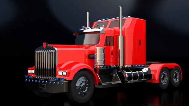 Kenworth W-900 with Autobot Insignia by Overmind5000