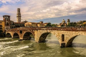 Verona old bridge by mydarkeyes