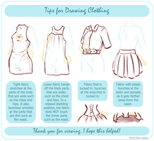 Tips For Drawing Clothing by raru-tan