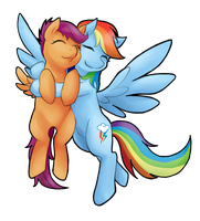 Dash and Scootaloo by norang94