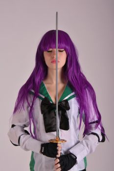 Saeko Busujima Cosplay - Calm Down by Abyzou-Crimson