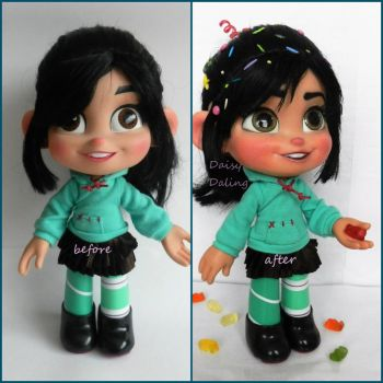 Disney's Wreck-It-Ralph Vanellope Doll Repaint by DaisyDaling