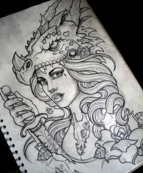Dragon Hunter by Frosttattoo